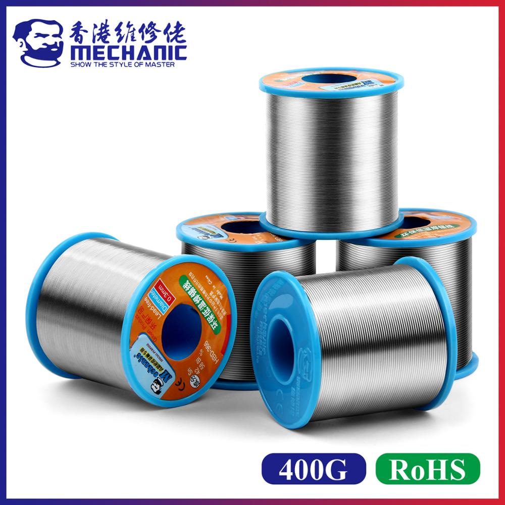 MECHANIC 400g 0 3 0 4 0 5 0 6 0 8mm Rosin Core Lead-Free 210        Melting Point Solder Wire Welding Flux 1 0-3 0percent Iron Cable Reel