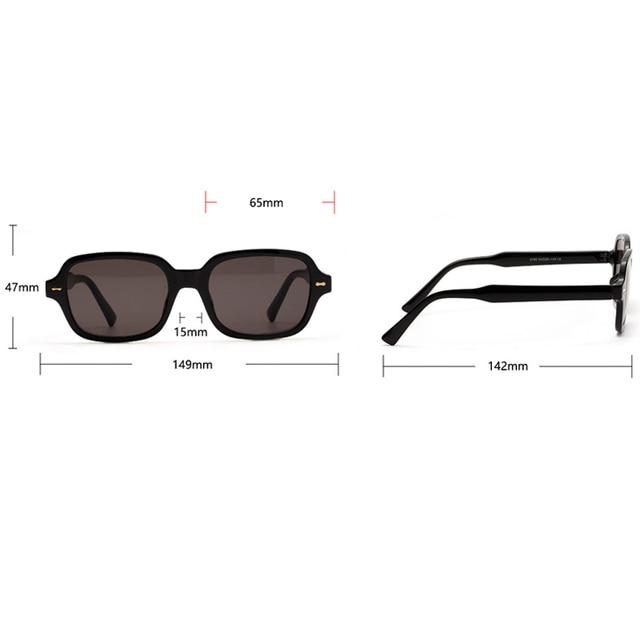 Fashion Unisex Square Sunglasses UV400  4