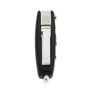 Image 2 - Modifiye MQB yarı akıllı uzaktan anahtar 3 düğme katlanır kapak akıllı araba anahtarı 315Mhz veya 433Mhz ID49 49 çip A6L için Audi A3