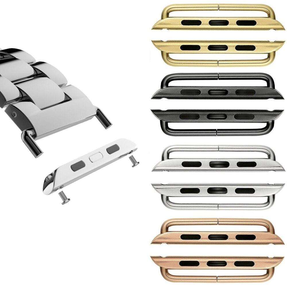Адаптер для apple watch band коннектор 44 мм 40 мм iwatch band 42 мм 38 мм 316L коннектор из нержавеющей стали аксессуары для apple watch
