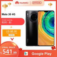 Original HUAWEI Mate 30 8GB 128GB Kirin 990 Smartphone 40MP Triple Kameras 24MP Vordere Kamera 6,62 ''Full bildschirm 27W Drahtlose QC
