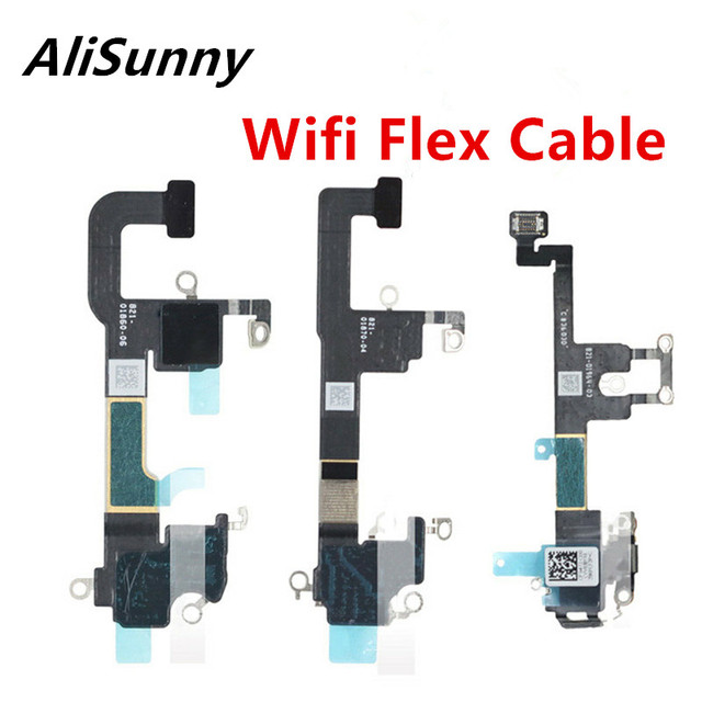 AliSunny 10pcs Wifi GPS Flex Cable for iPhone XS Max XR XSM Wi Fi Antenna Signal Receiver Ribbon Replacement Parts