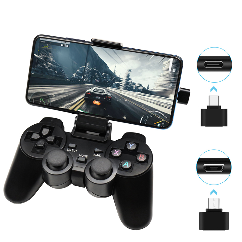 Wireless Gamepad For Android Phone/PC/PS3/TV Box Joystick 2.4G Joypad Game Controller For Xiaomi Smart Phone Game Accessories(China)