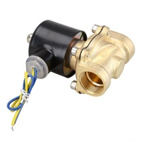 2W 200 20 3/4 Inch Brass Electric Solenoid Valve Water Air Fuels N/C DC 12V