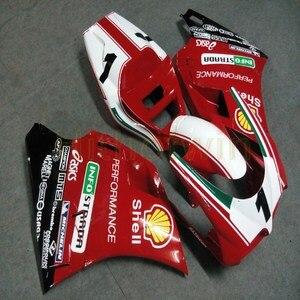 Image 4 - Bouten + Custom Rood Wit Motorfiets Artikel Voor 748 916 996 1996 1997 1998 1999 2000 2001 2002 Abs Motor kuip Kit M2