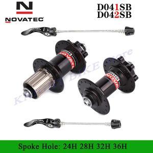 Novatec hub D041SB D042SB disc card brake MTB mountain bike hub bearing bicycle hubs 24 28 32 36 Holes 24h 28h 32h 36h 5 colors
