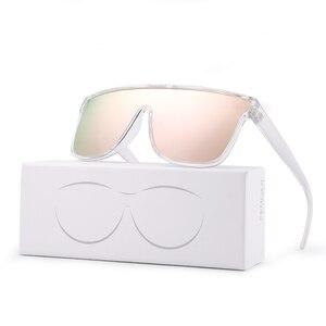 Image 5 - FENCHI nouvelles lunettes de soleil hommes femmes conduite bleu surdimensionné femme lunettes de soleil coupe vent lunettes Zonnebril Dames Oculos Feminino