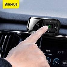 Baseus-Cargador USB, manos libres y radio FM para coche, conjunto USB 3.1A para coche, emisor y modulador de radio, Bluetooth 5.0, reproductor MP3, audio aux, inalámbrico