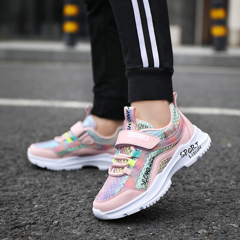 Kids Trainers Boys Girls Sneakers Sports Running Walking Fitness Shoes for  Outdoor Pink 34 Road Running Shoes