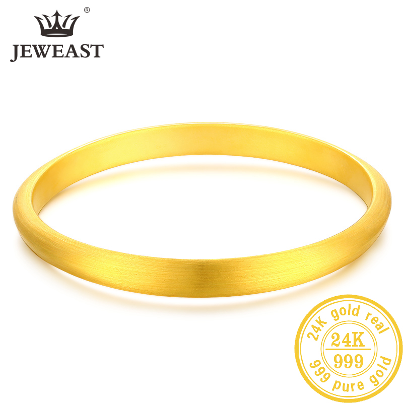 LKL 24K Pure Gold Bracelet Real 999 Solid Gold Bangle Upscale Beautiful Romantic Trendy Classic Jewelry Hot Sell New 2020(China)