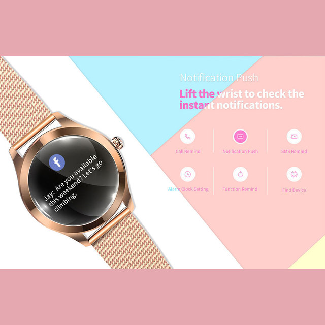 Smart Watch Women KW10 Heart Rate Monitoring IP68 Waterproof Multi-sports Modes Fitness Bracelet Smartwatch for Lady