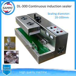 High Quality Stainless steel Continuous Induction Sealer,aluminium foil induction sealing machine (50-120mm diameter)