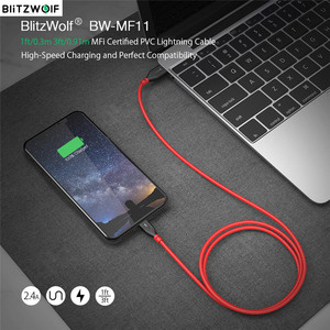 Image 1 - BlitzWolf BW MF11 2.4A USB Male To Lightning Cable Fast Charging Data Transfer Cord Tablet Phone Line For IPhone 12 With MFi