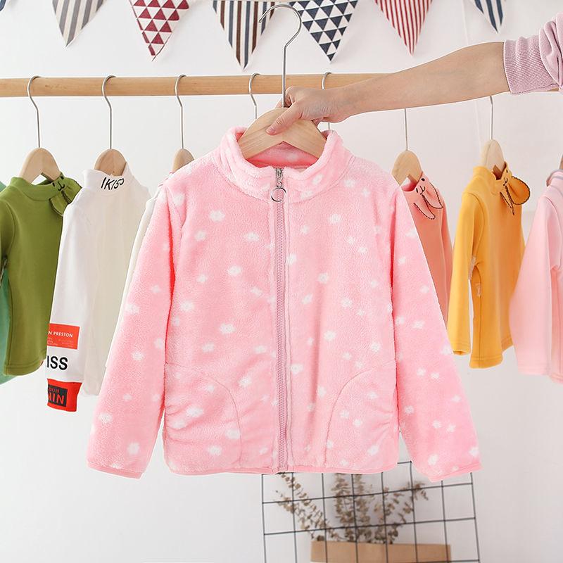 Vidmid New Children Autumn Solid Color Fleece Sports Jacket 3-10 Years Boys Girls Coats Fashion Zipper Tops Kids Clothes P316 3