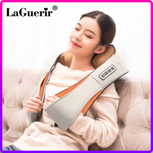 Laguerir Shoulder-Body-Massager U-Shape Heated-Kneading Electrical-Shiatsu Back-Neck