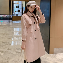 Autumn Winter Warm Caots Women Slim Turn-down Collar Woolen Coat Simple All-match Long Coats Womens Outwears