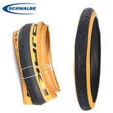 Schwalbe kojak um pneu de aço 349 16 polegadas maratona racer exo ultra leve retro amarelo pneu lateral 35-349 16*1.35 pneus dobráveis
