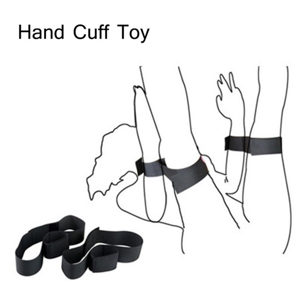 2Pcs Nylon Foot HandCuffs Thigh Restraints Bondage Straps Couples Flirt Sex Toys For Woman Comfortable And Lightweight