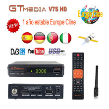 Originele DVB-S2 Gtmedia V7S Hd Europa Cline Voor 1 Jaar Spanje Satellietontvanger Gt Media V7s Hd Decoder Freesat V7s tv Receptor(China)