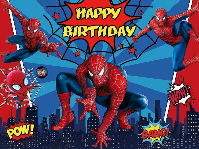 Человек-паук вечерние фонов шторы Фотокабины с героями комиксов Марвел, героем детское платье для дня рождения вечерние украшения стены фо...