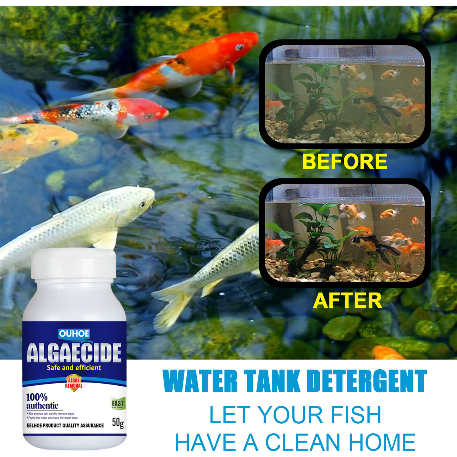 Swimming Pool Aquatic Cleaning Effervescent Disinfection Tablets Algae Repellent Agent Bottled Algaecide Tablets