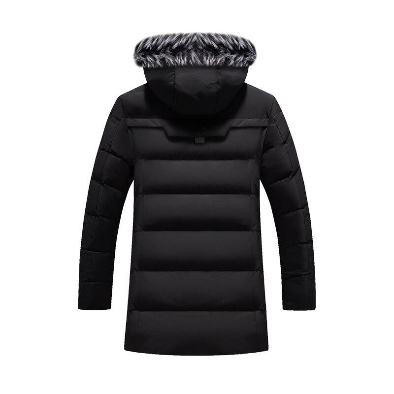 Hot DealsJacket Coat Padded Parka Warm Men's Winter Fashion Fur-Collar Thick New-Arrival Long