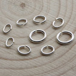Pure 925 Sterling Silver Oval Open Single Loops Jump Rings & Split Ring for Necklace Bracelet connector Jewelry Making Findings
