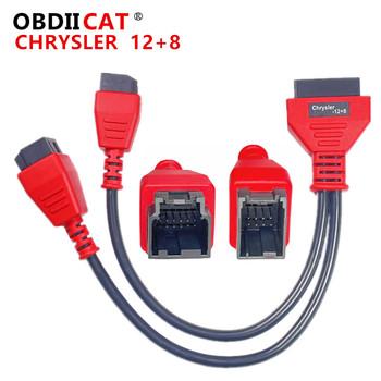 OBDIICAT Chrysler kabel do programowania 12 + 8 złącze Autel DS808 Maxisys MS905 906 908 PRO ELITE 12 + 8 kabel Adapter tanie i dobre opinie CN (pochodzenie) Cable 12+8 Connector 10inch 15inch Plastic Kable diagnostyczne samochodu i złącza 0 2kg Diagnostic Cable