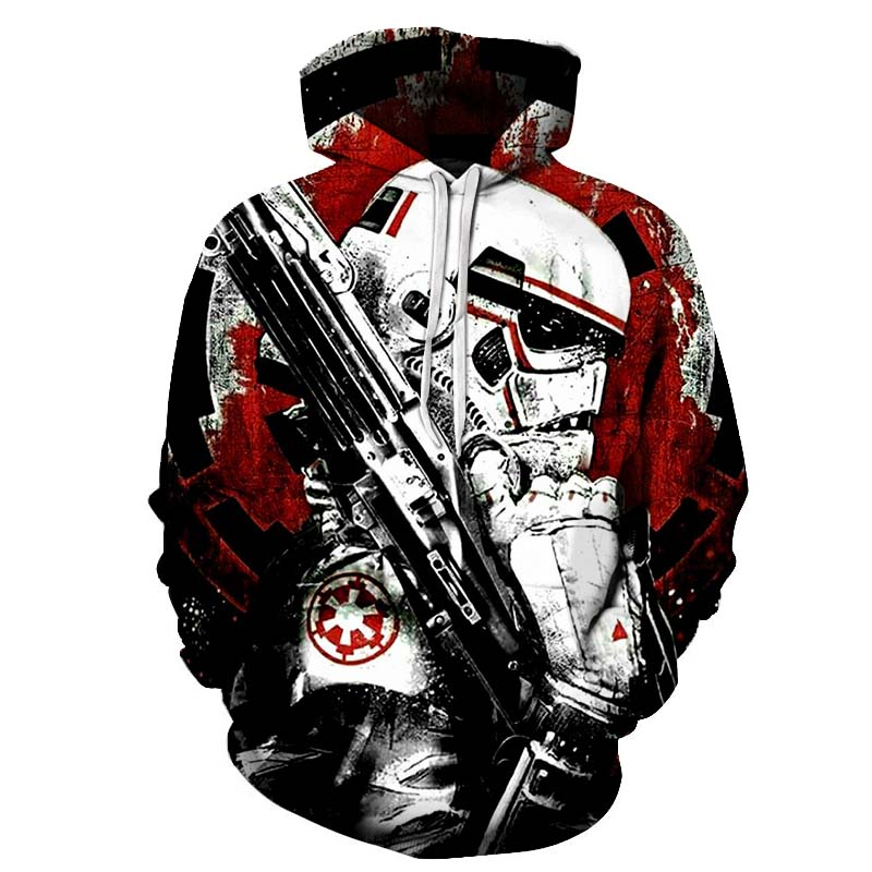 Hot Sale Star Wars Printed 3D Sweatshirt Hoodies Men Women Soldier Design Streetwear Male Long Sleeve Tracksuit Drop Ship