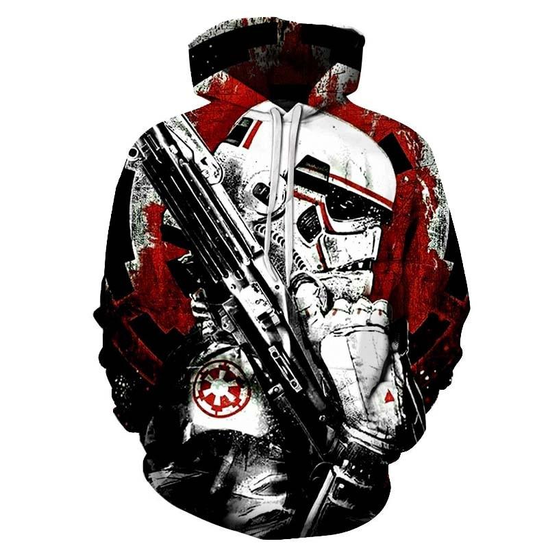 Hot Sale Star Wars Printed 3D Sweatshirt Hoodies Men Women Soldier Design Streetwear Male Long Sleeve Tracksuit Drop Ship