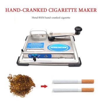 Maszynka do papierosów ze stali nierdzewnej wałek ręcznie łukowaty tytoń urządzenie do zwijania ręczna maszyna do napełniania papierosów palenie narzędzia DIY tanie i dobre opinie CN (pochodzenie) Metal Lakier Cigarette Rolling Machine