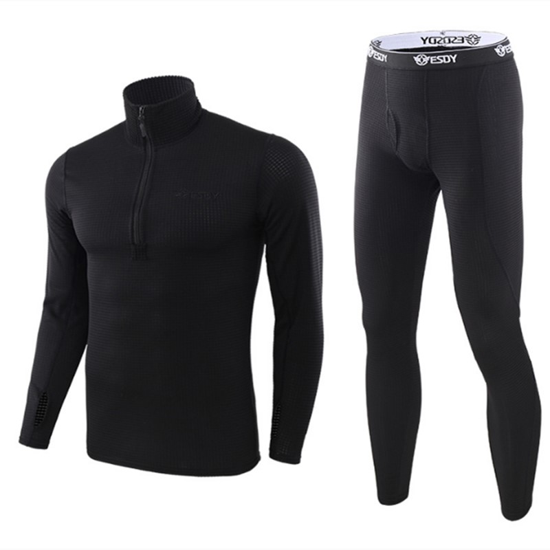 New Winter Top Quality New Thermal Underwear Men Underwear Sets Compression Fleece Sweat Thermo Training Underwear Men Clothing