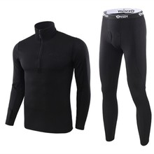 New winter Top quality new thermal underwear men sets compression fleece sweat thermo training clothing