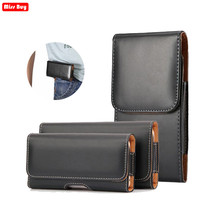 Teléfono Universal bolsa para huawei P20 honor V10 10 Lite 7 6 Plus 8 V8 9 V9 Nova 3 3i 2 funda de cintura funda cinturón cubierta de cuero