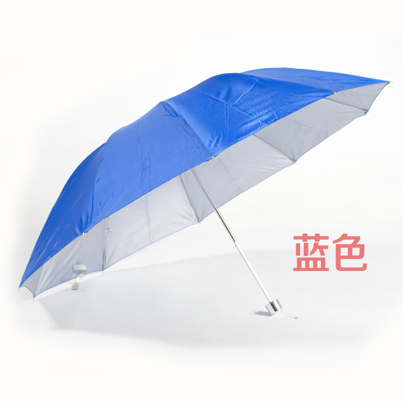 Customizable Umbrella Advertising Umbrella Gift Umbrella Collapsable Pole Silver Colloid Ten-Bar 10 Bar Umbrella Can Be Printed