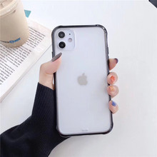 SF  frosted trasparent cases for iphone 11pro / 11pro max