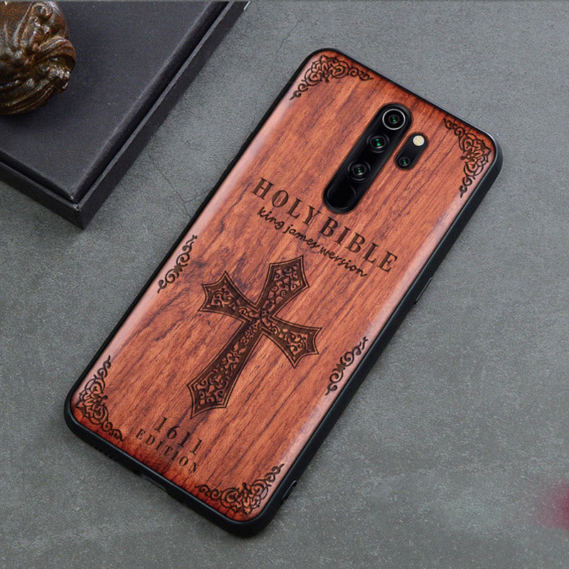 Real Wood Case for Xiaomi Mi 10 9T Pro 9 SE Lite CC9 A3 Redmi Note 8 K20 7 K30 Cover Embona Carving Embossed Hard Cases Funda