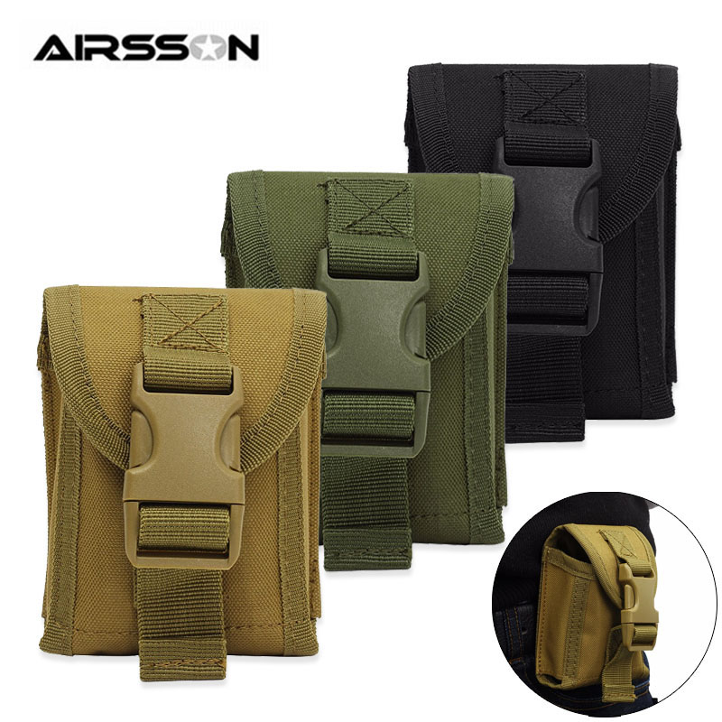 1000D Tactical Molle Pouch Men Military Waist Pack Belt Bag Phone Pouch Utility EDC Gear Outdoor Hiking Hunting Accessories Bags
