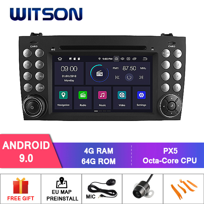 Germany Stock! WITSON Android 9.0 CAR DVD GPS for BENZ SLK200/SLK280 SLK35/SLK55 4GB RAM+64GB FLASH 8 Octa Core+DVR/WIFI+DAB+GPS