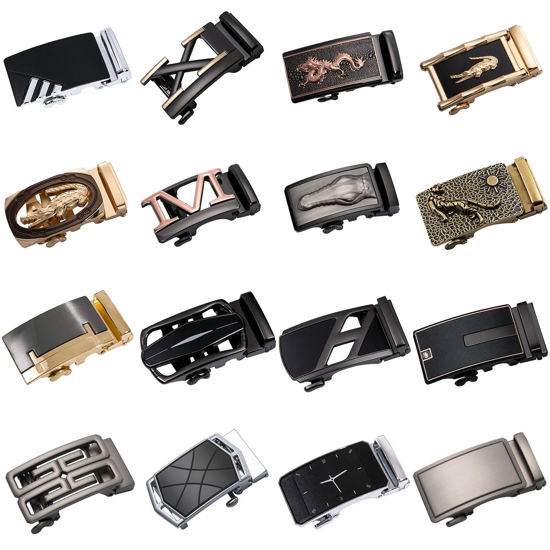 Alloy Automatic Buckle Genuine Men's Belt Head Belt Buckle Automatic Belt Buckle For 3.5cm Ratchet Automatic Belt DiBanGu