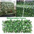 Зеленые лианы деревянный расширяемый искусственный забор искусственный декоративный забор для сада с защитой от ультрафиолетового излуче...