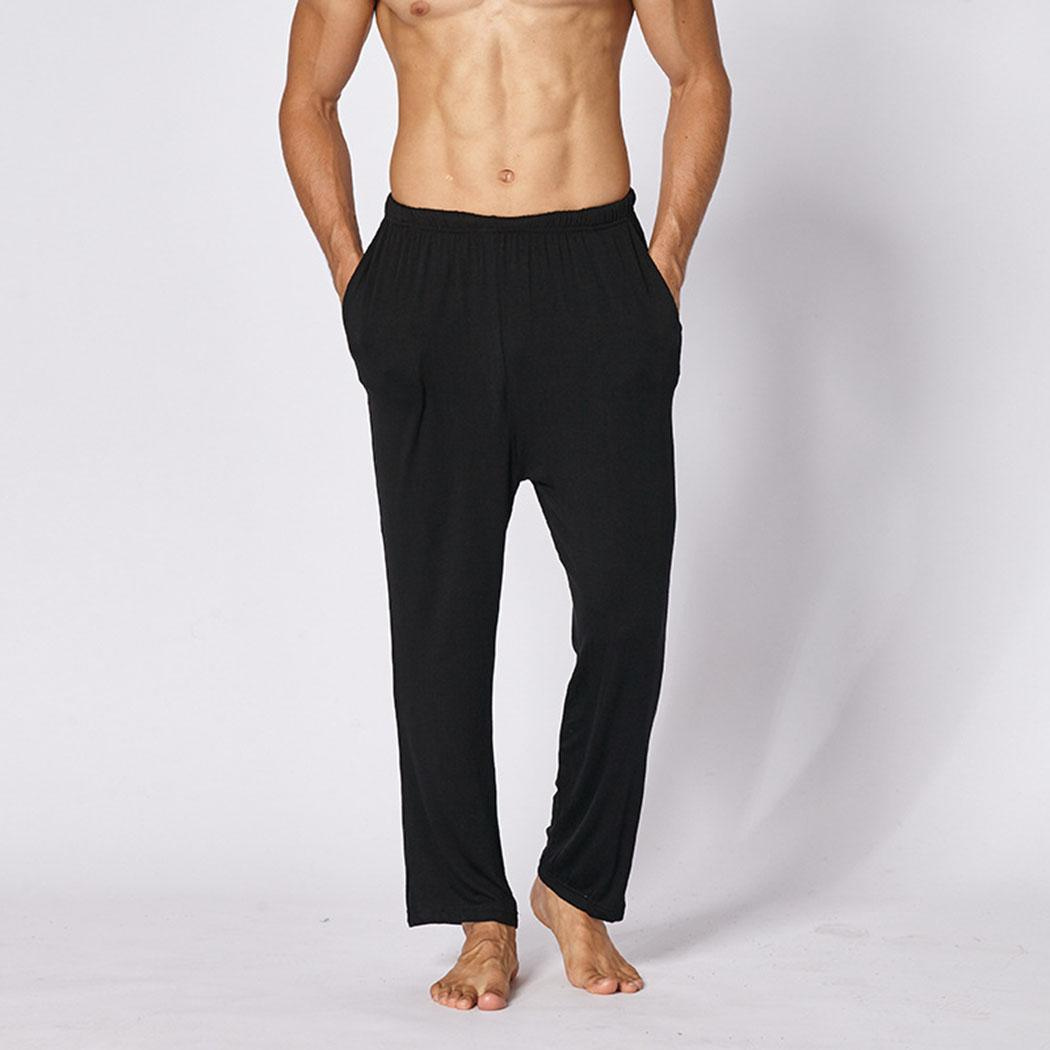 Men Casual Loose Modal Pajama Pants Cotton Solid Elastic Waist Breathable Pajamas Spring, Autumn Home Pants