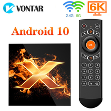 Top-Box Tvbox-Set Youtube Wifi Google Vontar X1 Android 10 1080p 5G 64GB 4K Ce Voice-Assistant