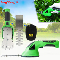 3.6V 2 in 1 Cordless Grass Shear Lithium ion Rechargeable Hedge Grass Trimmer Shears For Lawn Mower Shrub shear Garden Tools