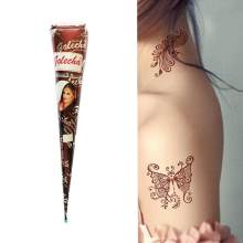 1Pcs Coklat Berwarna Merah India Henna Tattoo Paste Cone Tubuh Cat, Sementara Mehndi Henna Tattoo Pasta Cream(China)