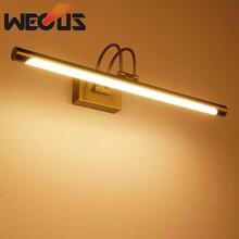 Luz de tocador de níquel cepillado de estilo europeo, accesorios de lámpara led vintage para baño, iluminación de hotel sobre armario de espejo