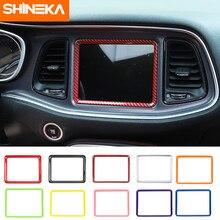 Couverture décorative pour Dodge Challenger 2015 +, accessoires d'intérieur, cadre de Navigation GPS pour tableau de bord de voiture