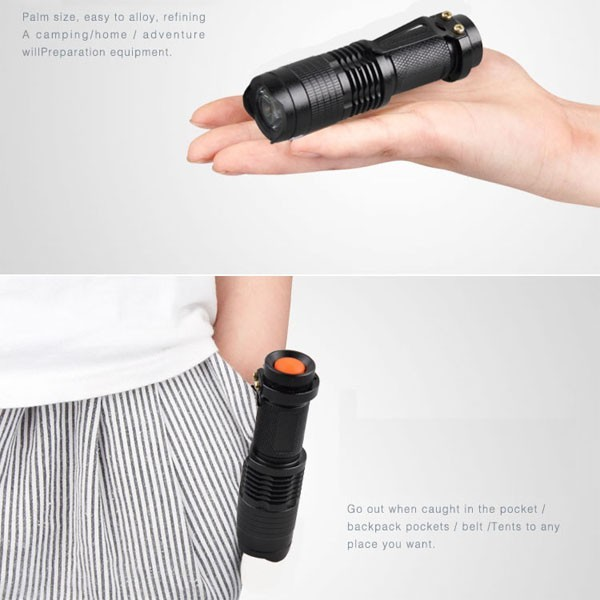 New Adjustable Zoom Red Flashlight Powerful 3W LED 625nm Red Light Torch Mini Pocket Light With Clip For Hunting Astronomy 4