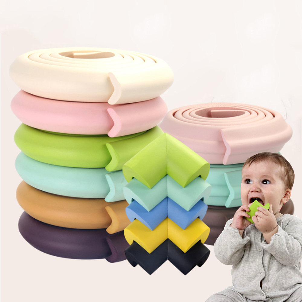 5M+8Pcs Baby Safety Protection From Children Corner Protector Furniture Overlays For Corners Foam Bumper Desk Table Corner Guard