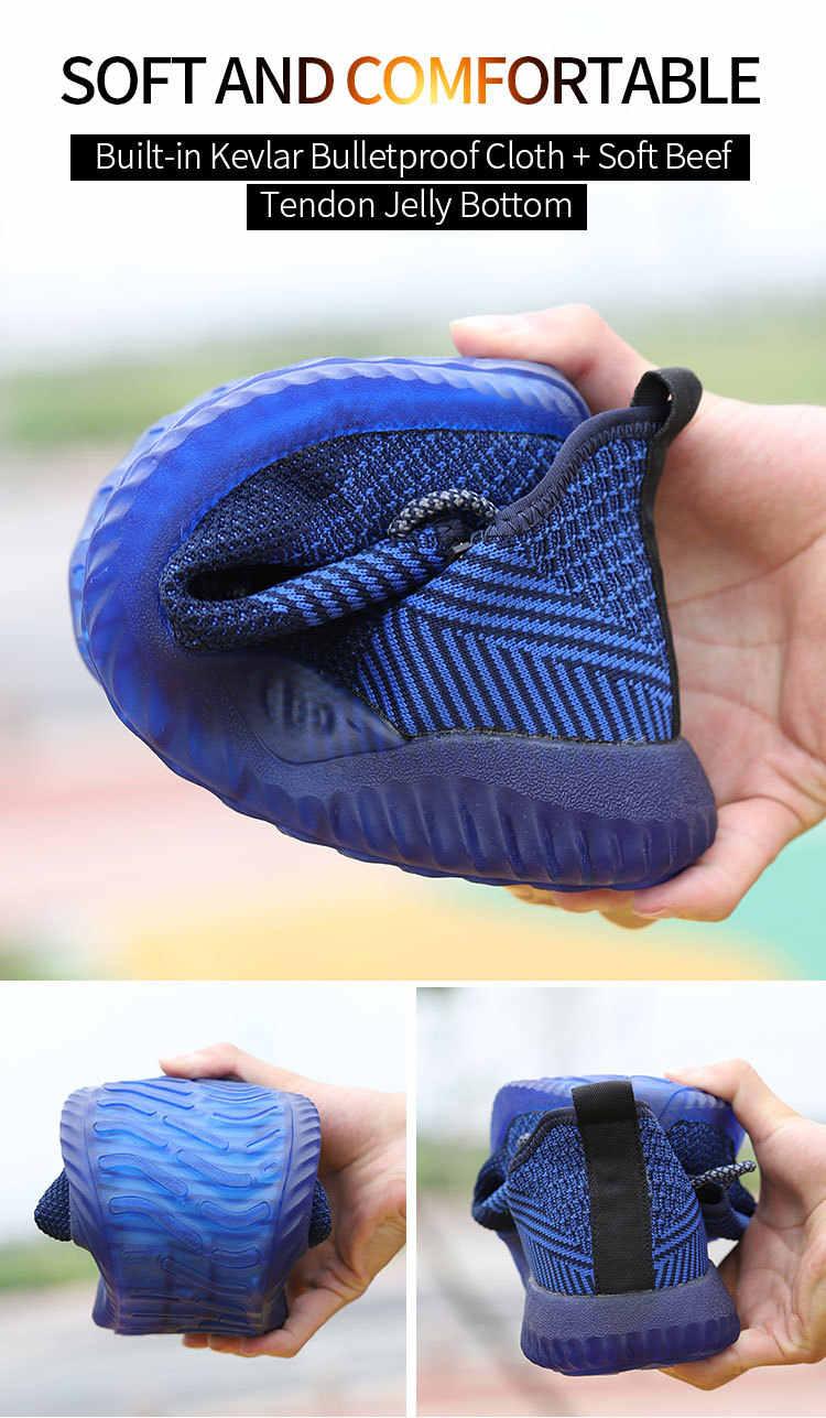 Çelik burunlu güvenlik ayakkabıları Erkekler tasarım ayakkabı Nefes Açık Ayakkabı Delinme Geçirmez Botlar Yıkılmaz Ayakkabı Erkekler iş ayakkabısı